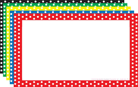 border index cards 3 x 5 polka dot blank top3653