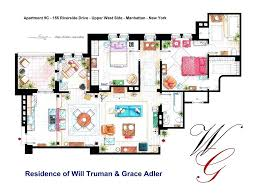 floorplan of threes company apartment by nikneukfrasier layout