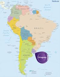 Blank South American Map by Uruguay Map Blank Political Uruguay Map With Cities