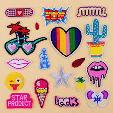 15pcs multi cactus embroidered patch badge iron on patches for