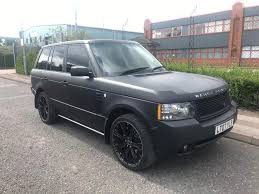 land rover range rover sport matte black range rover vogue 3 6 td v8 full 2012 facelift matt black alloys
