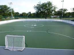 outdoor basketball court backyard cost with single ring design