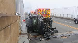 sagamore bridge head on rollover accident stalls traffic