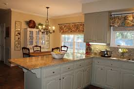 Kitchen Cabinet Valances Kitchen Cheerful U Shape Kitchen Decoration Using Yellow Kitchen