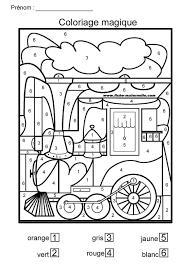 Coloriage magique pour Moyenne Section et grande section  Color by