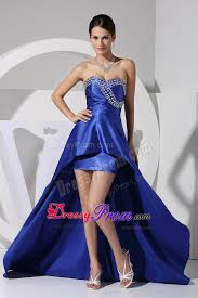 luxurious ruched royal blue semi formal prom dress