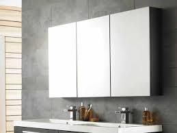 bathroom cool bathroom mirror cabinets with three panels storage
