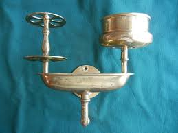 Victorian Bathroom Lighting Fixtures by Vintage Victorian Brass Bathroom Fixture Soap Dish Toothbrush Cup