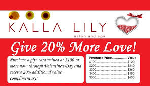 gift card specials give more this s day kalla