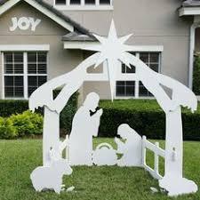 large nativity for noel baby jesus