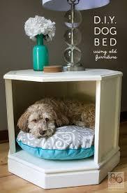 end table dog bed diy d i y dog bed side table makeover 86 lemons