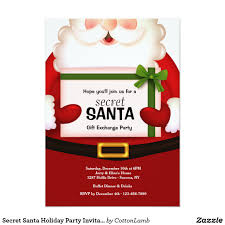 secret santa holiday party invitation invite guests to your