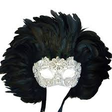mask with feathers venetian mask in london for him and wide shut silver