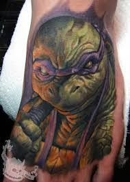 crazy ninja turtle tattoo for foot photos pictures and sketches