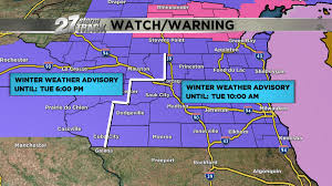 Map Of Southeast Wisconsin by Winter Weather Advisory In Effect For Southern Wisconsin Wkow 27