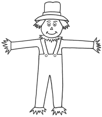 scarecrow coloring pages free large images art ideas