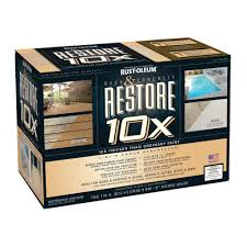 rust oleum restore 2 gal tint base deck and concrete kit 10x