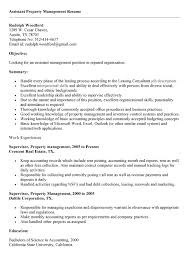 Manager Resume Objective Examples by 10 Property Manager Resume Job Sample Example Writing Resume