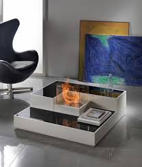 contemporary and cozy portable fireplaces