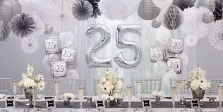 30th wedding anniversary party ideas silver 25th wedding anniversary party supplies 25th anniversary