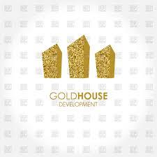 gold house design vector clipart image 97127 u2013 rfclipart