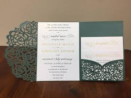 wedding invitations pocket gorgeous laser cut wedding invitations pocket wedding