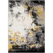 Gray And Yellow Rugs Modern Yellow U0026 Gold Area Rugs Allmodern