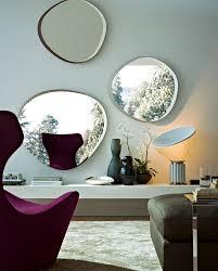 Design Spiegel Wohnzimmer Wandmontierter Spiegel Modern Wohnzimmer Holz Zeiss