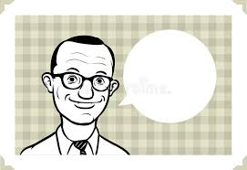 Sarcastic Face Meme - greeting card with retro man face in glasses stock vector