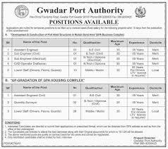 job opportunities in gwadar port authority 4 february 2017 jobs