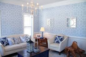 a coco trellis stenciled living room stencil stories