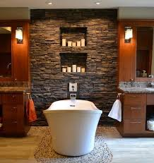 Stone Bathroom Designs Bathroom With The Stone Finishing U2013 The Kingly Interior