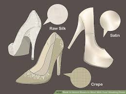 wedding dress shoes how to select shoes to wear with your wedding dress 10 steps