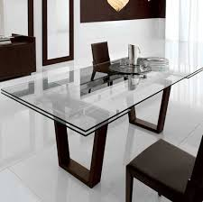 Dining Table With Extension Kasala Modern Bold Glass Extension Dining Table Modern Glass