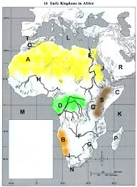 Africa Map Rivers Map Quiz Ancient Africa