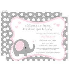 pink and grey elephant baby shower invitations best inspiration