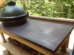 kamado joe grill table plans i made a concrete countertop for my egg table big green egg