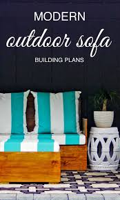 Free Plans For Outdoor Sofa by Building Plans For Outdoor Furniture