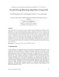 pattern matching algorithm in data structure using c parallel string matching algorithm using grid pdf download available