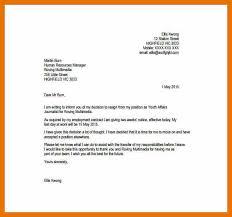 simple resignation letter sample 1 month notice pdf cover letter