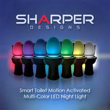 toilet light multi color smart toilet motion activated night light newest version