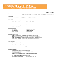 Sample Intern Resume by Sample Resume For College Student 10 Examples In Word Pdf