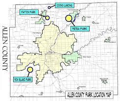 map of allen allen county parks parks