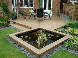 pond in a raised bed small garden ponds pinterest small gardens