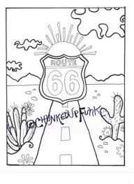 free route 66 printables include word puzzles coloring page and