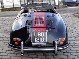old porsche 356 classic chrome porsche 356 speedster replica 1969 g black