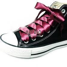 ribbon shoelaces discount wine satin ribbon shoelaces oxblood bootlaces