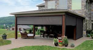Side Awnings For Patios Eclipse E Zip Side Retention Solar U0026 Insect Screen Eclipse Shading