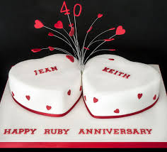 cake for 40th wedding anniversary