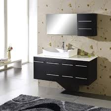 a guide to build your own floating bathroom vanity midcityeast astounding design of the black rugs added with grey floor and black floating bathroom vanity
